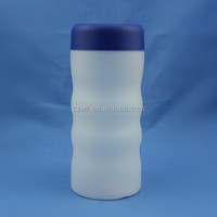 HDPE plastic drum, liquid bottles, special shape with screw cap,500ml