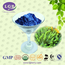 ISO, GMP, FDA, HALAL, KOSHER 15 years Factory supply Spirulina Algae extract phycocyanin/ phycocyanin powder for blue pigment
