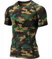 Hot sale Men's Long Sleeve T-Shirt Baselayer Cool Dry Compression Top Crew neck T shirt Camo Color t-shirt