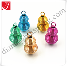 Customized color powder coated steel coil art and craft spring for key chain