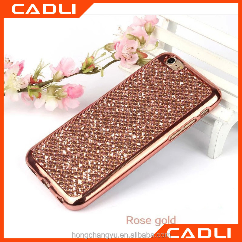 Luxury Shining Electroplating Bling Glitter TPU Case For iPhone 5 5s Soft Back Cover for Apple iPhone 5SE 5G