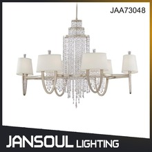 JANSOUL home decoration antique silver transparent crystal chandelier lighting