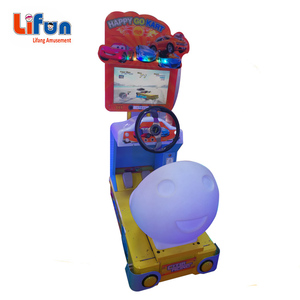 plastic arcarde race car game machine for children park