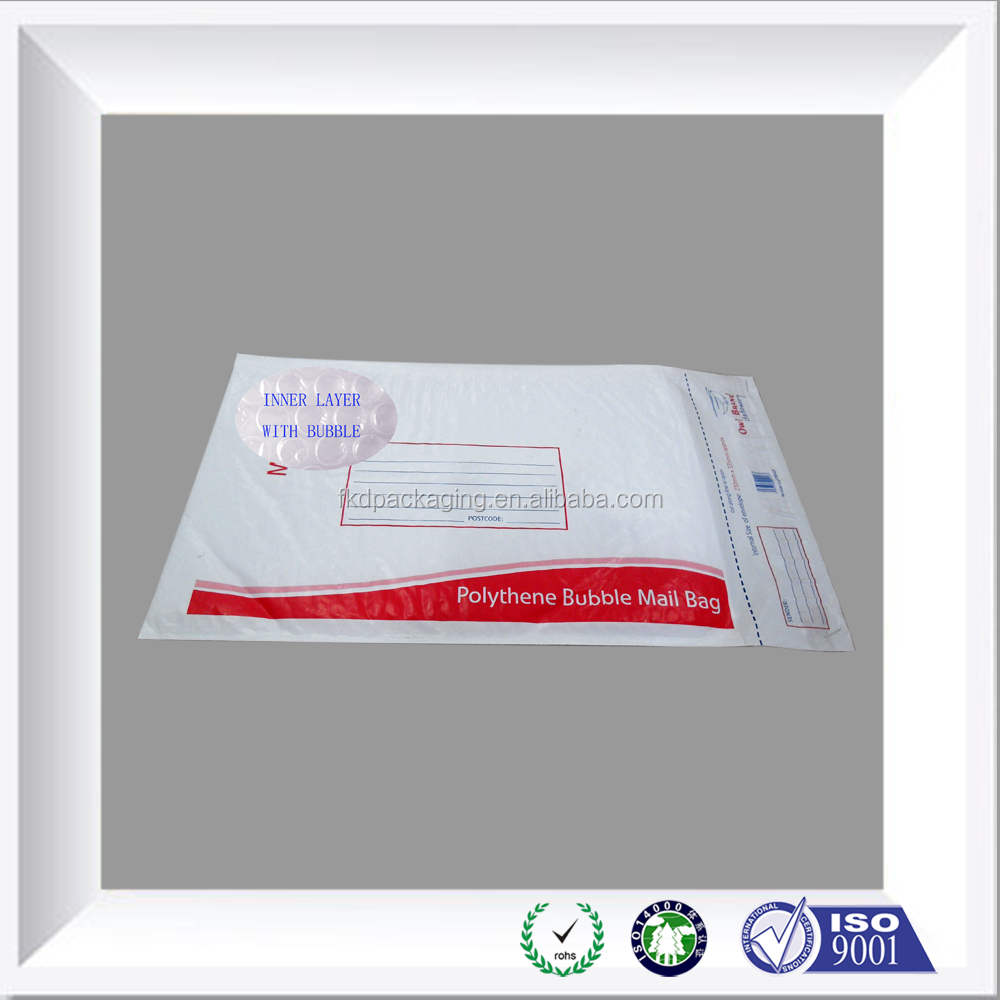 bubble mailing bags/Courier plastic bags with bubble/bubble lining safe poly mailing bags