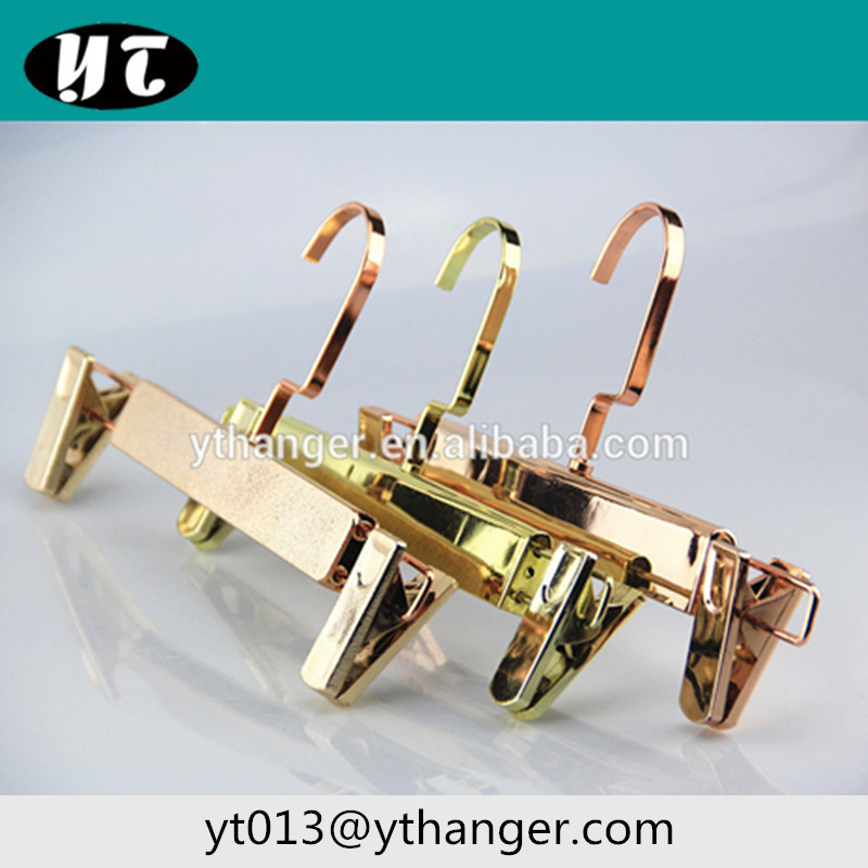 CY-118 fashion gold or rose gold pant hangers with clip