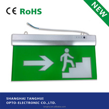 CE/EMC/LVD Battery Backup DP LED Emergency Exit Sign Light with Self-luminous Exit Sign Direction