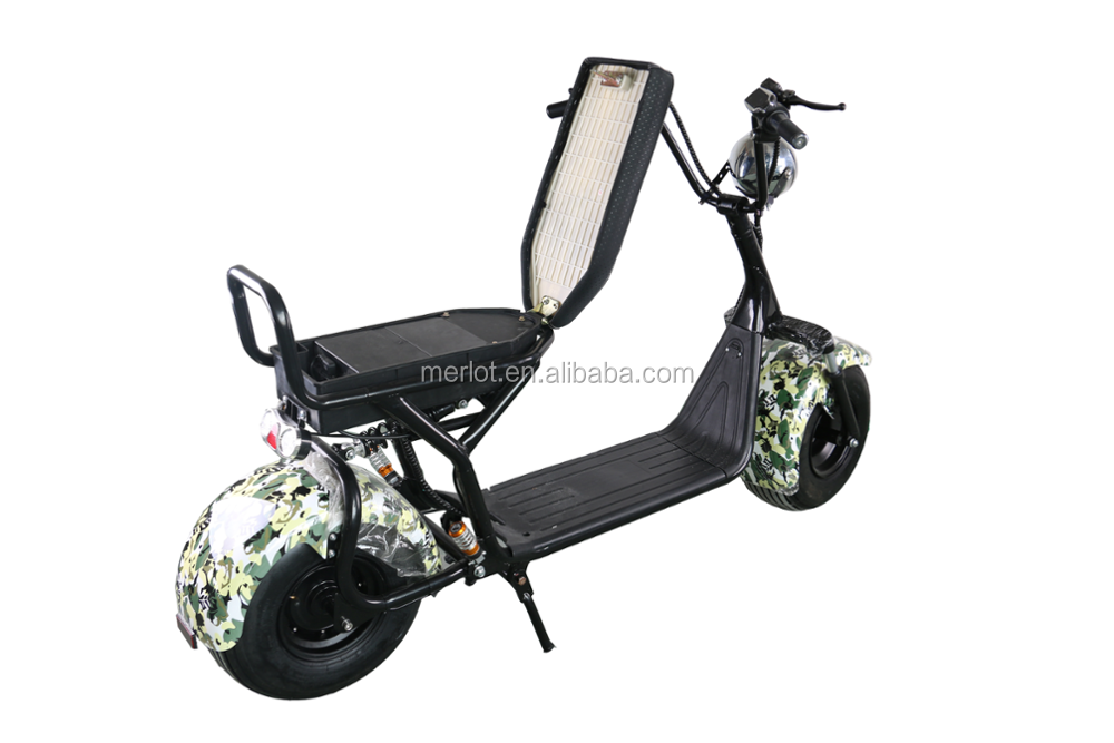 SC13 city coco 1000w fat tire citycoco electric scooter with removabale battery