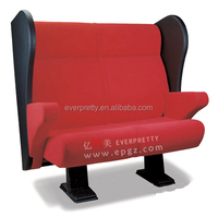 Classic Double Seat Theater 3D Cinema Seat Cushions Folding Chairs for Couples