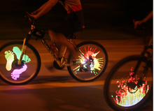 Programed 128 LED Night Riding Safty Bicycle Spoke Light