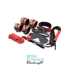 SEX TOYS BDSM EXCITING LEATHER FETISH FOR MALE BONDAGE BDSM BONDAGE SLAVE FETISH SET FOR MALE BONDAGE