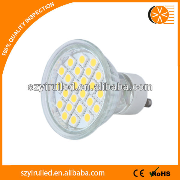 gu10 led mini,SMD5050 3w glass shell <strong>spotlight</strong>