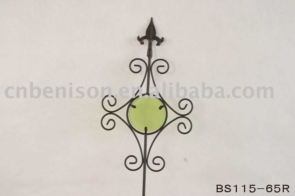 cast iron stained glass decorative metal sunflower garden steel stakes