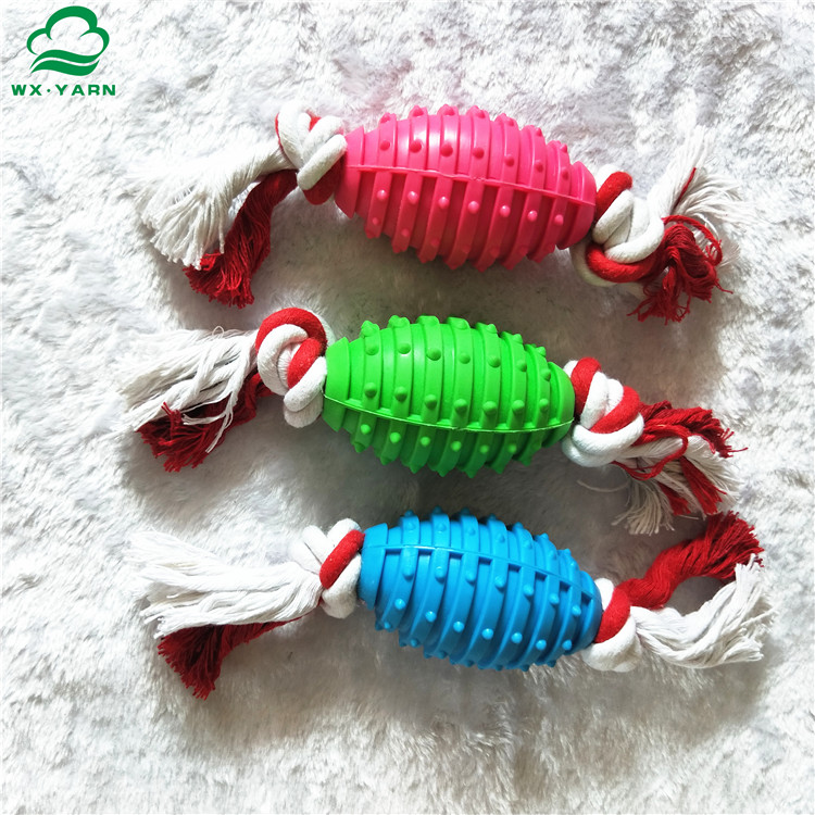 Factory supplier TPR ball rope dog chewing toys