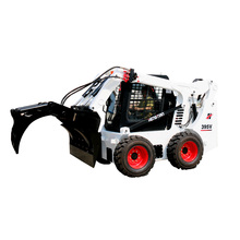 front end mini wood wheel log skid steer loader forks clamp grapple for sale