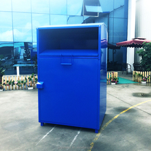 Assemble customized galvanized sheet clothing donation bin