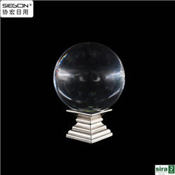 acrylic high transparent crystal door knob with metal screw base