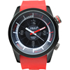 2015 red color silicone band quartz watch price low