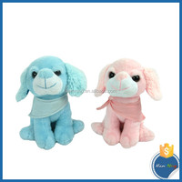 neck tied sitting very soft long ears dog valentine's toys