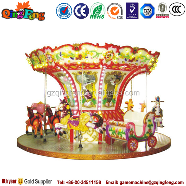 2014 canton fair wholesale HR-QF031 amusement park merry carousel horse sale