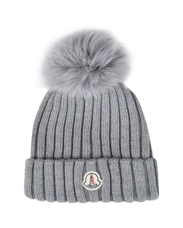 Multifunctional Plastic knit beanie with fur pom ball hat
