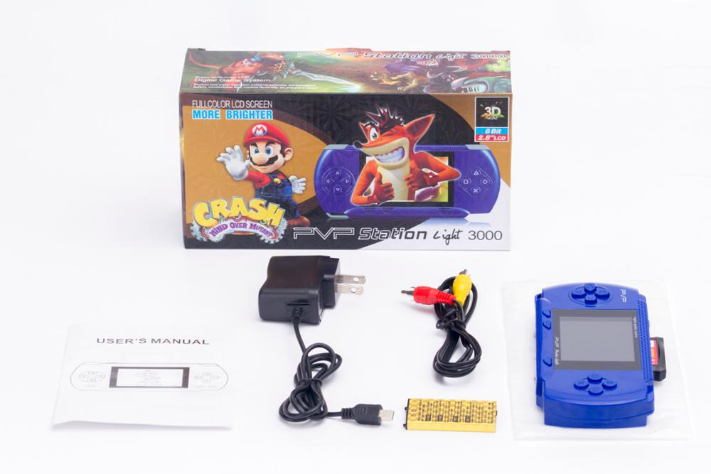 PVP3000 2.8 inch handheld game game card 8 game console to connect to the TV