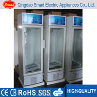Slim air-cooled Upright display showcase freezer 200L
