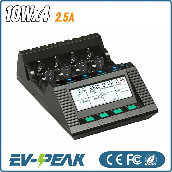 EV-PEAK <strong>C</strong> series CQ1-XR EV0313 2.5A 4*10W DC input easy operate battery charger