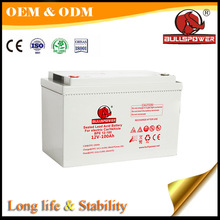 High specific energy 12v 100ah electric vehicle agm lead acid battery