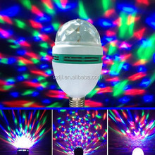 3w rgb Disco Led rotating lamp/Bulb/lighting E27 base type