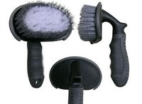 portable car cleaning brush with long handle in cleaning brush