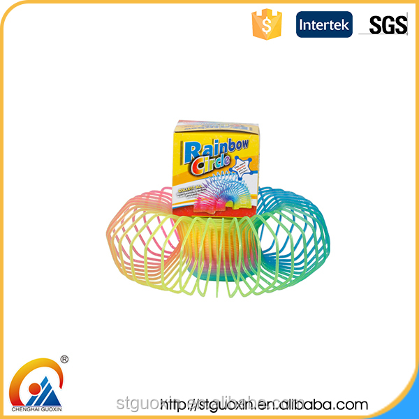 Colorful promotional colorful classic coil shaped cheap girls toys for kids