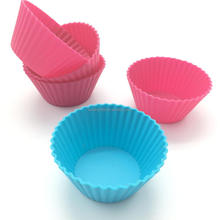 100% Food Grade Silicone Muffin Cases Cake Cupcake Liner Baking Mold