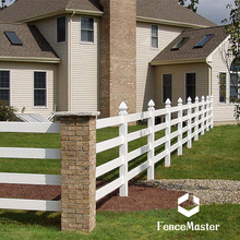 100% virgin vinyl white pvc horse fence