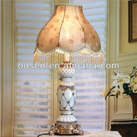 tall chinese porcelain color table lamp