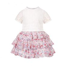 Frock Design For Baby Girl Summer Flower Short Sleeve Dress Kid Clothes
