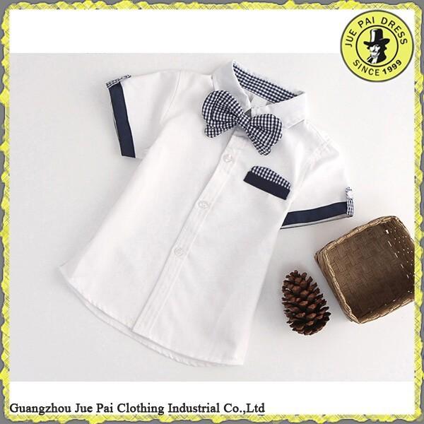 100% cotton comfortable malaysia school uniform Boys Shirt