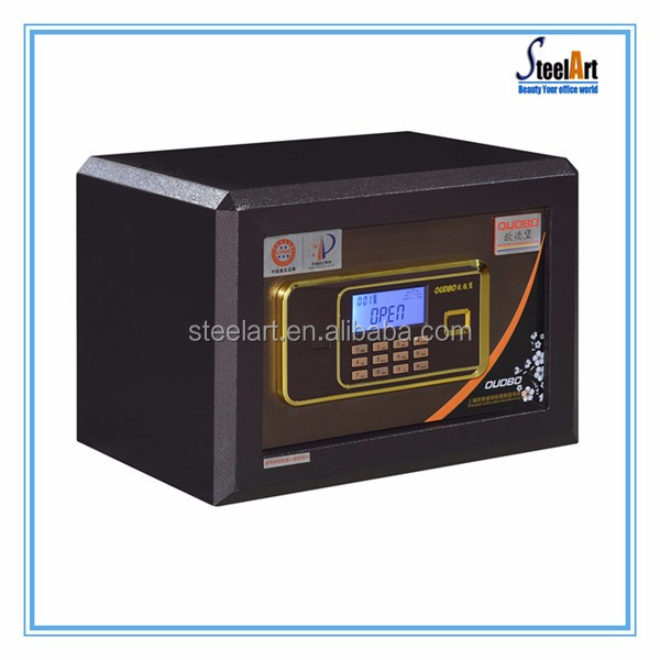 Wall mounted small metal safe box with e-lock
