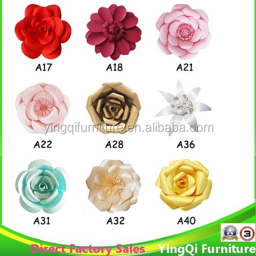 Wedding Stage Paper Flower Decoration For Sale