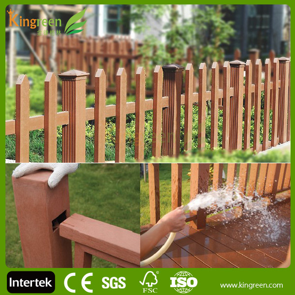 New design composite decking plastic children fence, small garden fence, dog runs fence