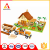 modle toys building blocks for farm and the figures toys