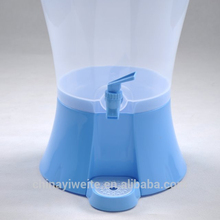 large plastic juice jug with tap, water canister with tap