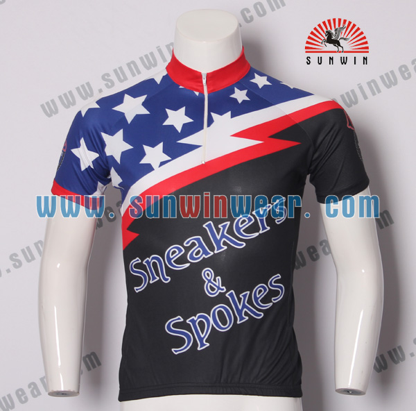 cycle jersey custom 2017 china custom made bike jersey/cheap cycling wear/OEM bicycle wear