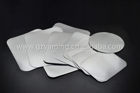 cardboard paper lid for foil container one side aluminium one side paper cardboard