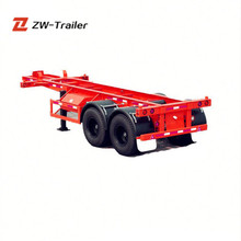 Customized 40Ft Twin Axle Skeleton Semi Trailer With New Free Accessories