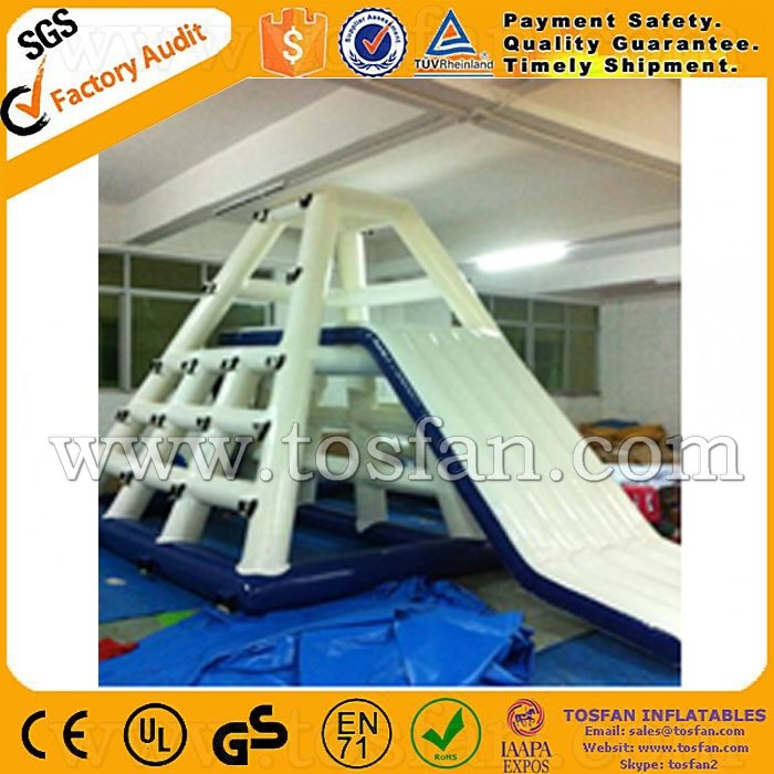Commercial cheap inflatable water jumping tower inflatable water slide A9009A