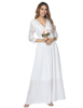 High quality White Wrap evening Dress Layer Sash Zipper Luscious Curvy long party dress