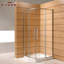 Modern 2 sided shower enclosure , corner complete decorative glass bath shower cabin