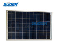 China Suoer Wholesale 50w 18v Flexible Poly Solar Power Cell Panel with CE ROHS
