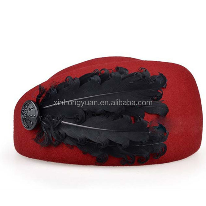 fashion Wool Felt Pillbox Air Hostesses Beret Hat Party Base Cap