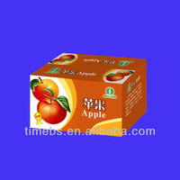Foldable fruit packing boxes